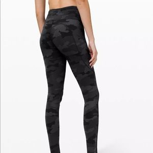 """Lululemon Fast and Free Tight 25"""" Camo"""